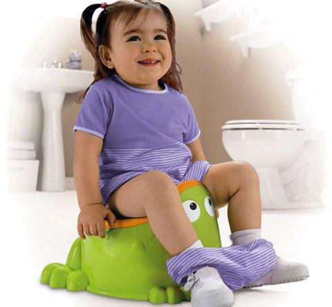 Trang bị cho bé một chiếc bô hoặc tấm đệm lót bồn cầu mini vừa vặn cho bé sử dụng